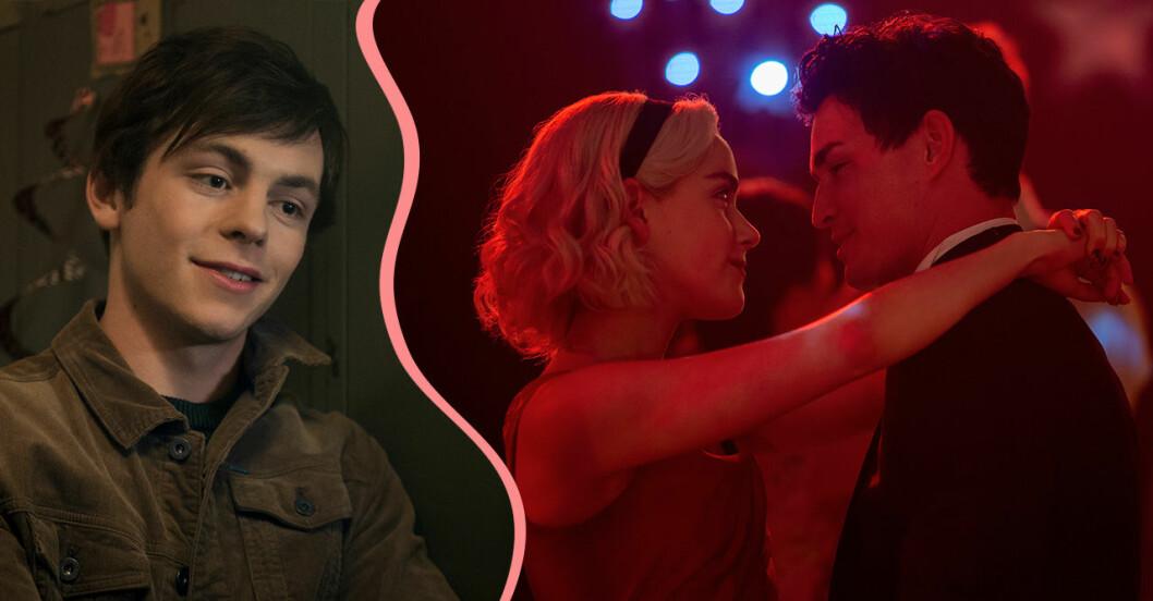 En romantisk stund mellan Sabrina Spellman och Nicholas Scratch i säsong 2 av Chilling Adventures of Sabrina.