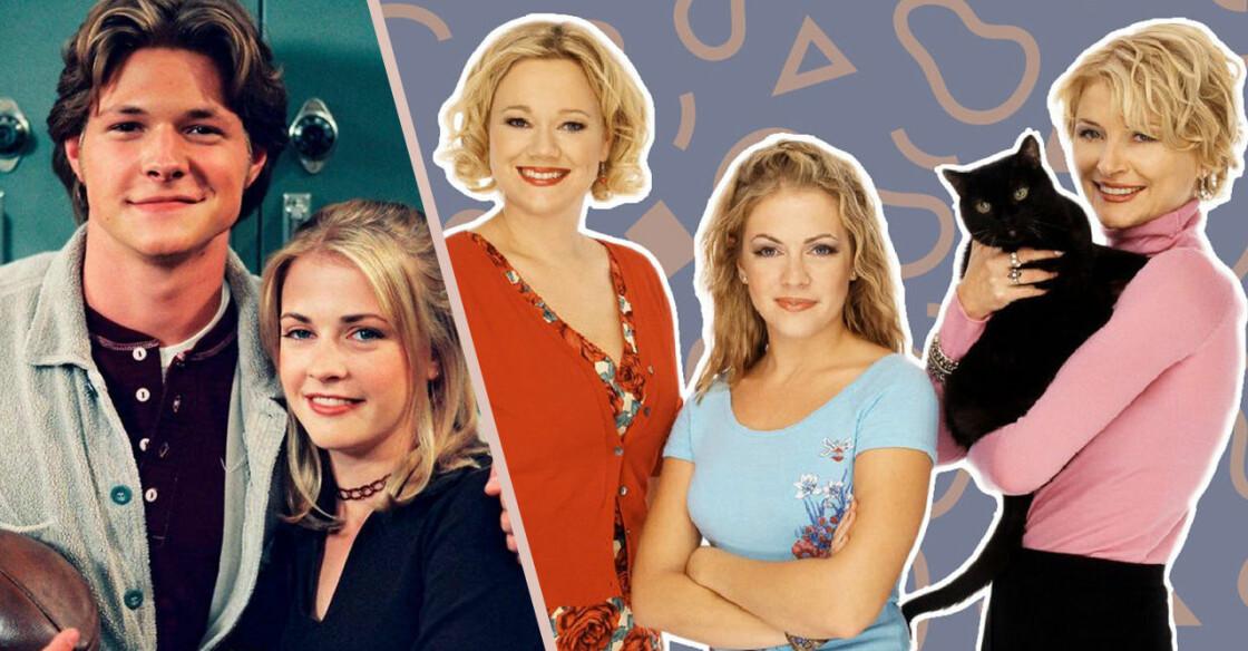 Sabrina och Harvey samt hennes fastrar