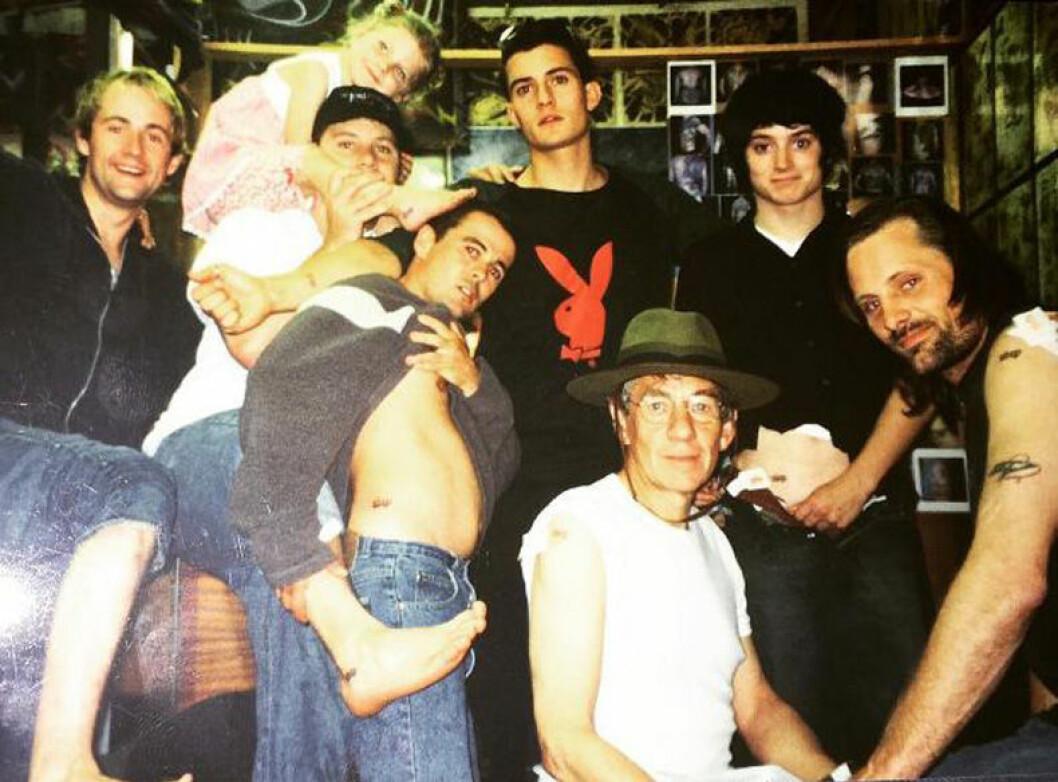 gammal bild av gänget i Sagan om ringen, privat