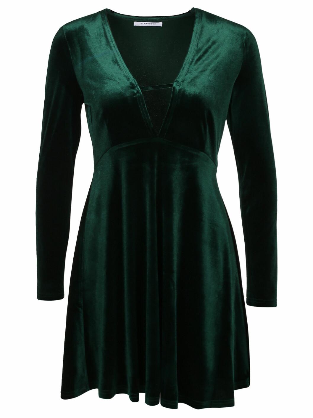 sammetsklänning grön