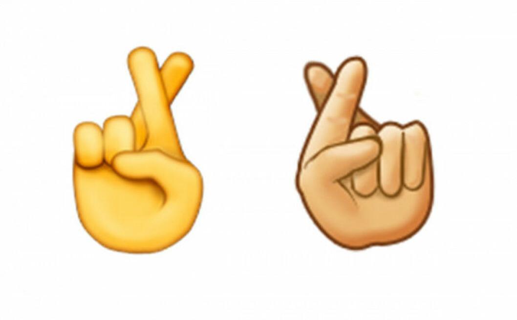 Iphones emoji till höger och Samsungs till vänster.
