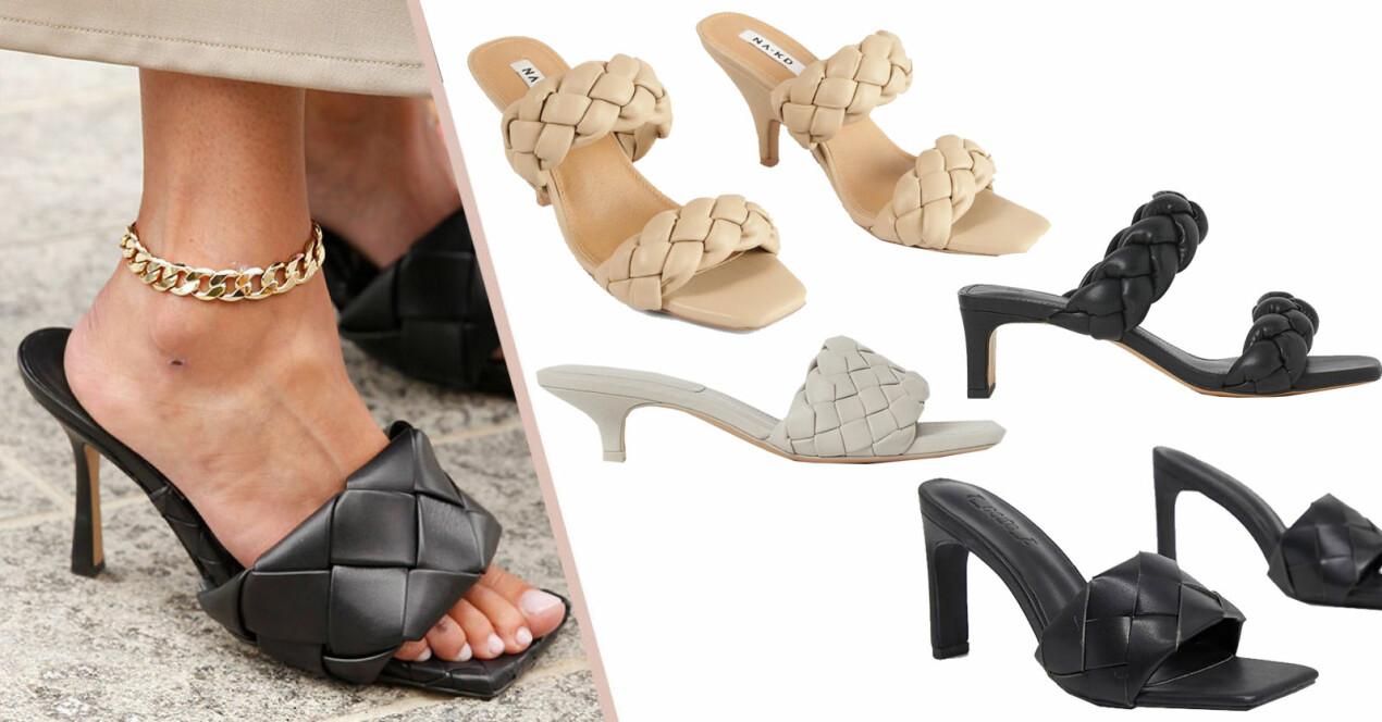skor som liknad bottega venetas sandaletter