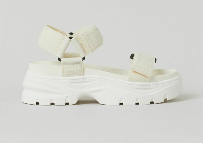 chunky sandaler med kardborrband från H&M