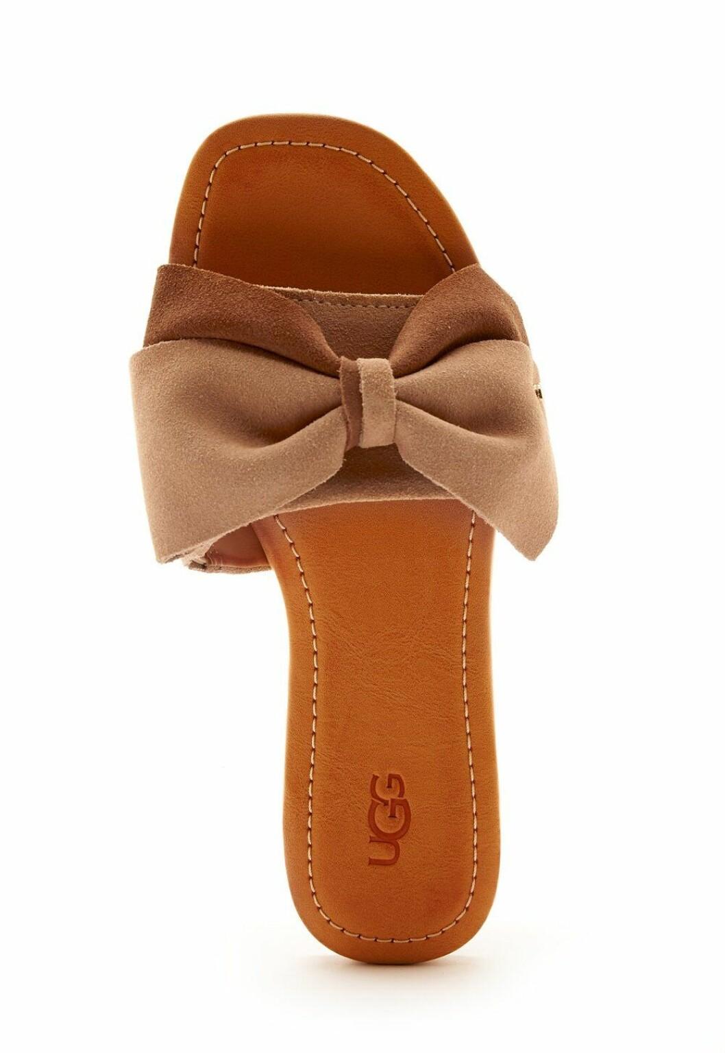 Bruna sandaler med rosett för dam till 2020