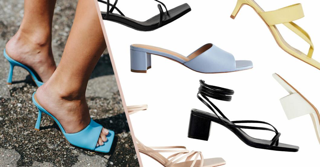 Skor med fyrkantig tå – sandaletter till sommaren 2020