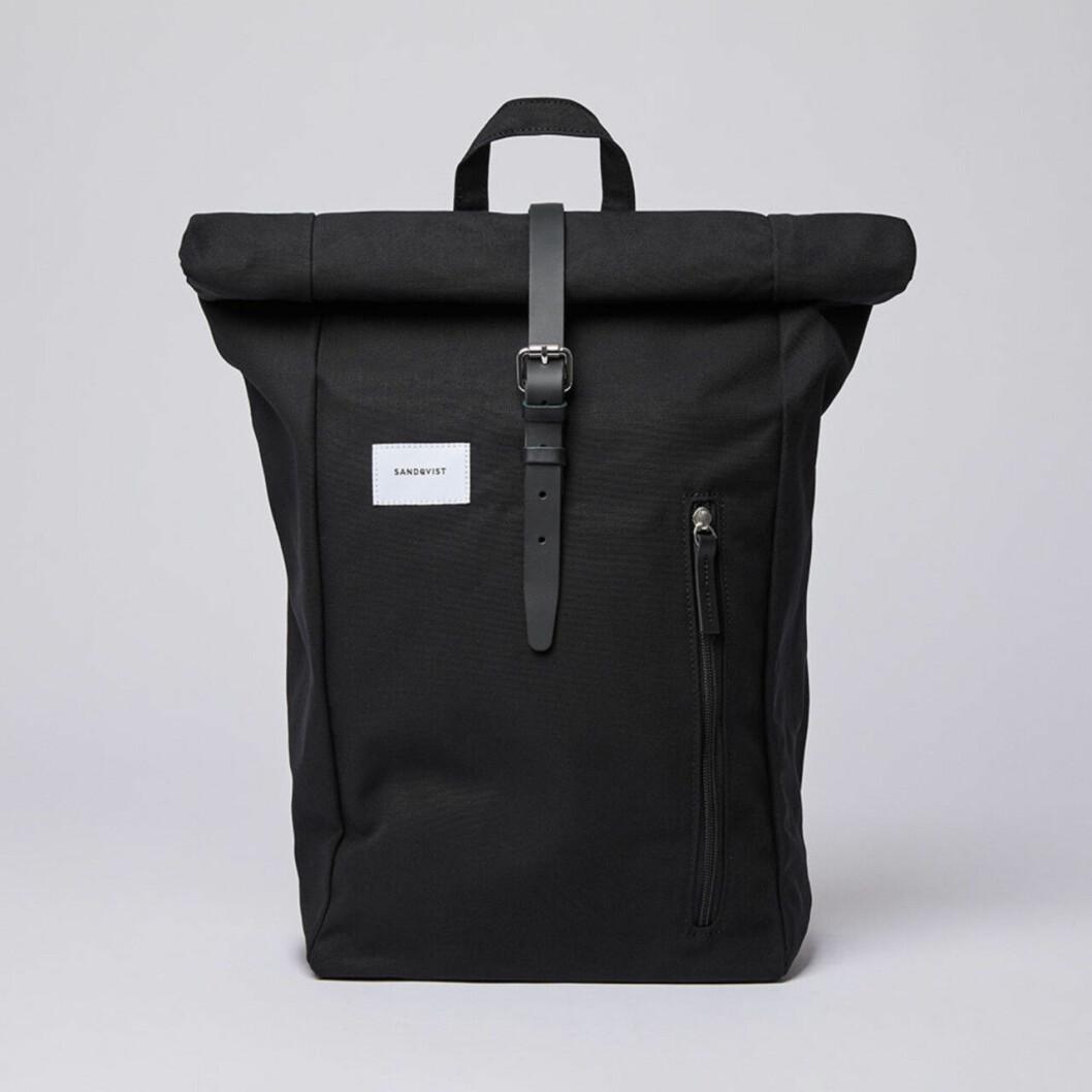 Svart ryggsäck från Sandqvist