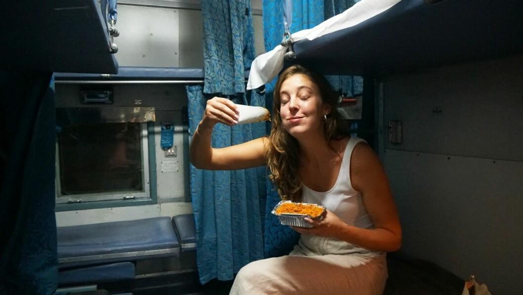 Sandy Stadelmann har bland annat rest själv på ett nattåg i Indien