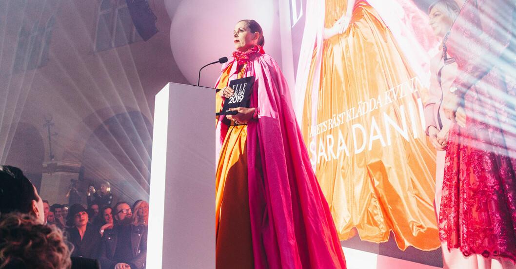 Sara Danius vid Elle-galan 2019
