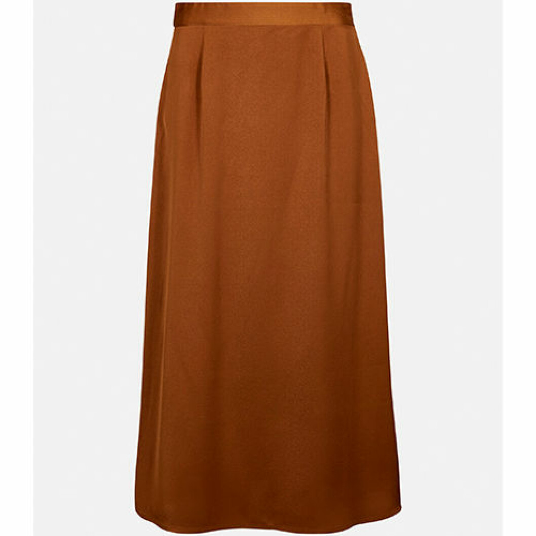 Ljusbrun kjol i satinvävd kvalite