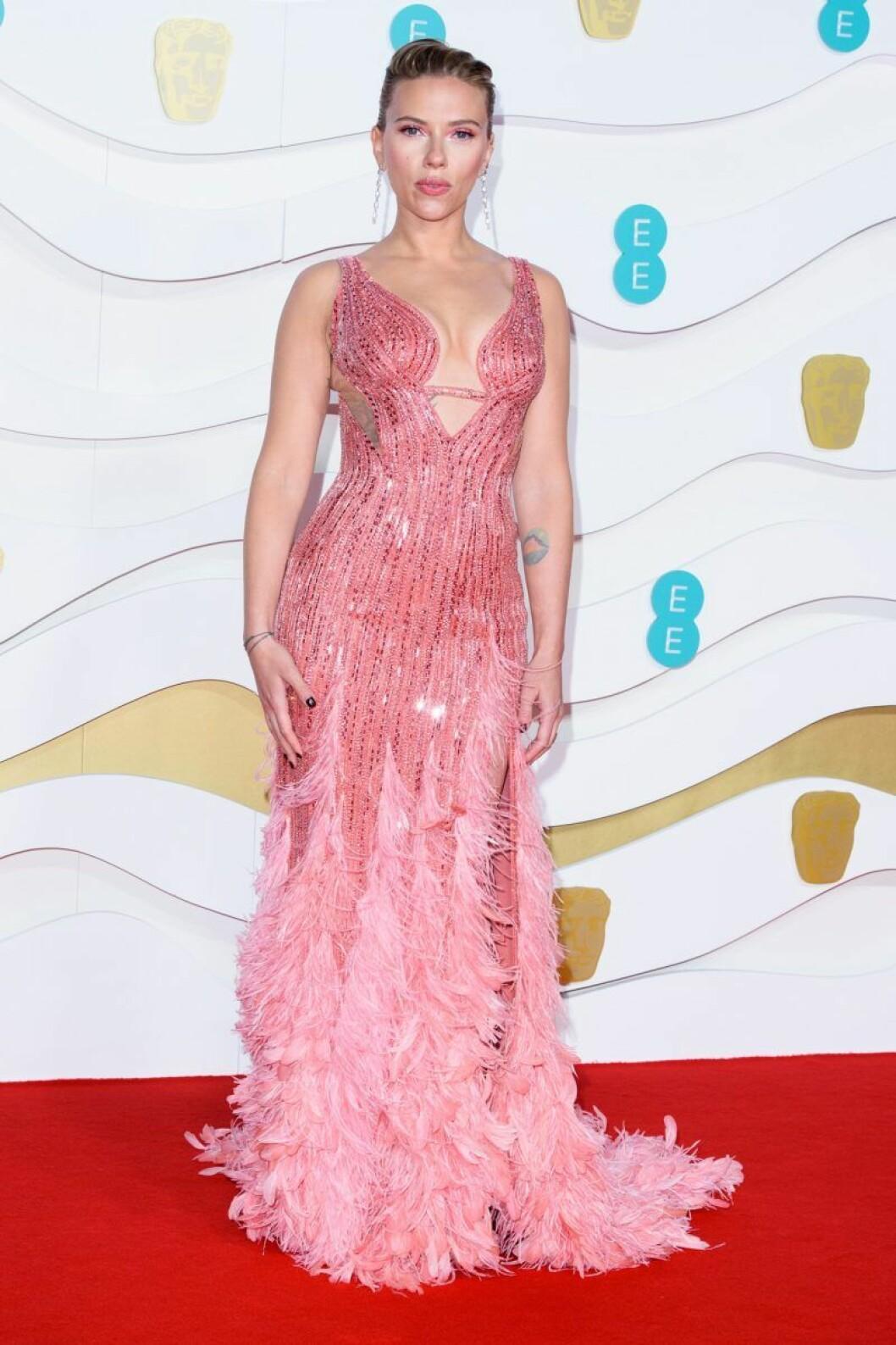 Scarlett Johansson på Bafta-galan 2020.