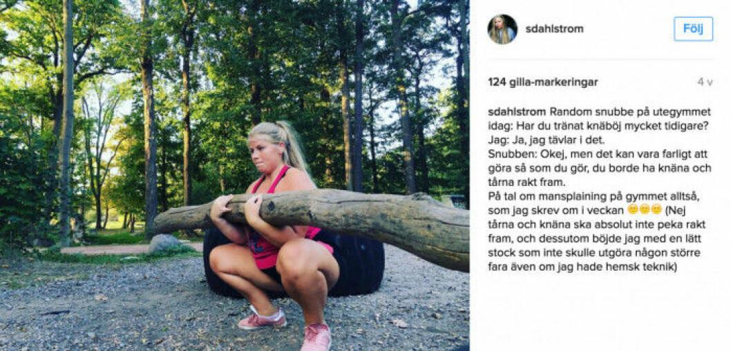 Sara Dahlström är styrkelyftare och inspirerar dagligen sina följare med peppande bilder på Instagram.
