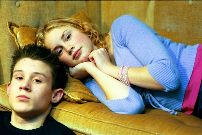 Carl-Robert Holmer-Krell som spelade Adam, och Ellen Fjæstad som spelade Eva.