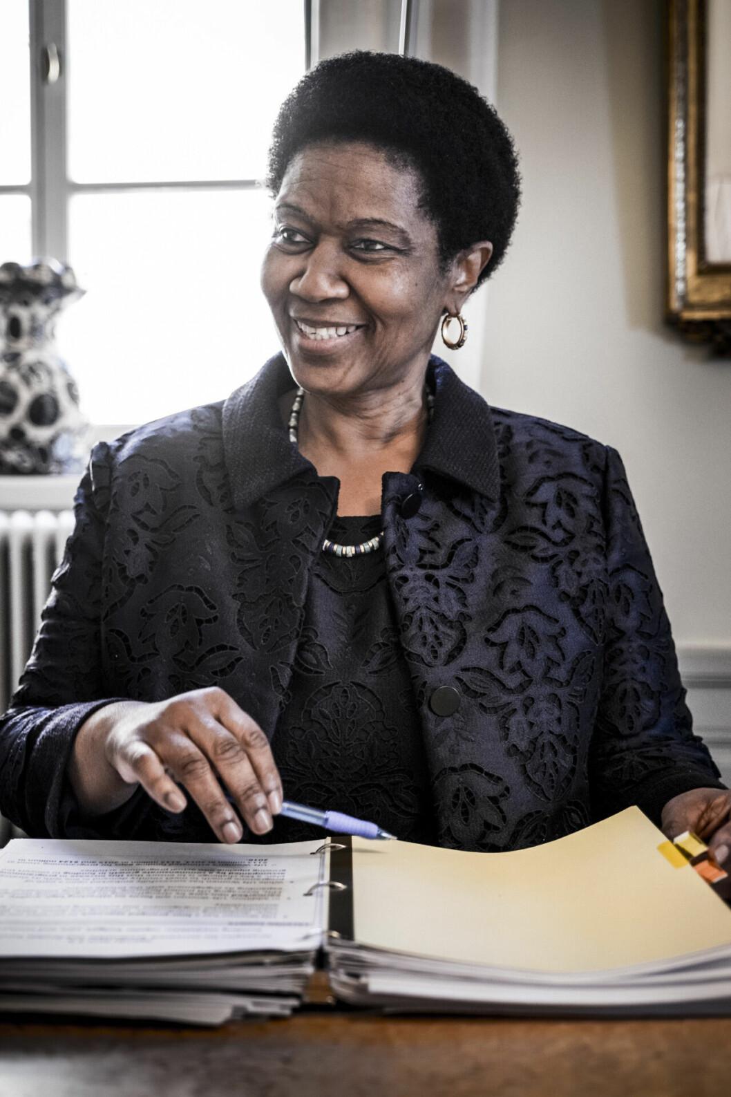 Phumzile Mlambo-Ngcuka, chef för UN Women, besöker Sverige och UD.