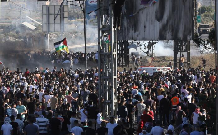 Upplopp mellan palestinier och israeler