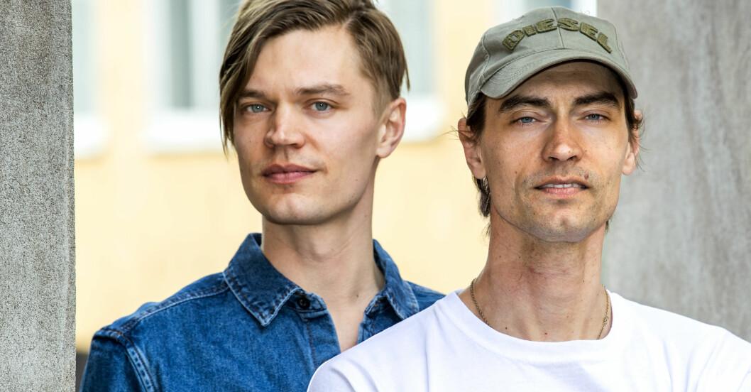 Gustaf och Viktor Norén inför Så mycket bättre.