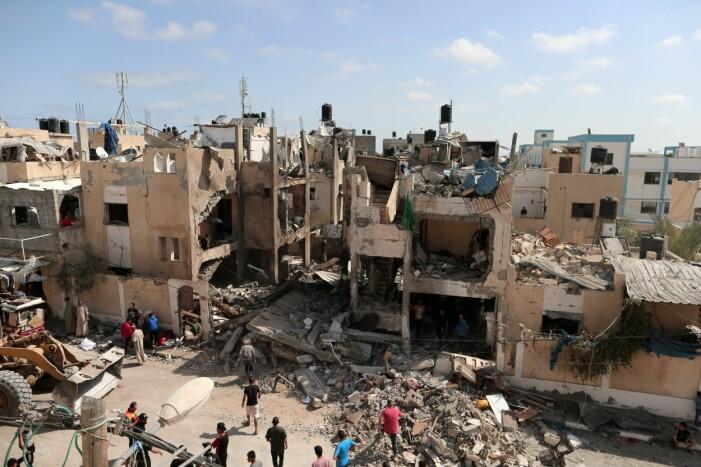 Bombad by i Gaza