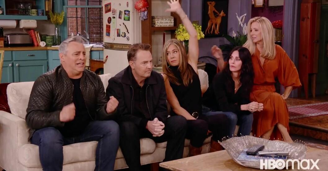 Courtney Cox, Matt LeBlanc, Matthew Perry, Liza Kudrow, David Schwimmer och Jennifer Aniston
