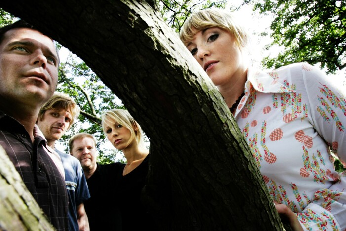 Popgruppen Raymond & Maria Camilla, Maria, Johan, Staffan och Per.
