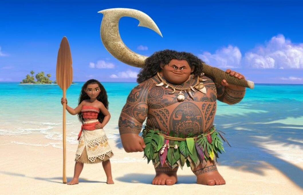 Bild fran Disneyfilmen Moana som heter Vaiana pa svenska.