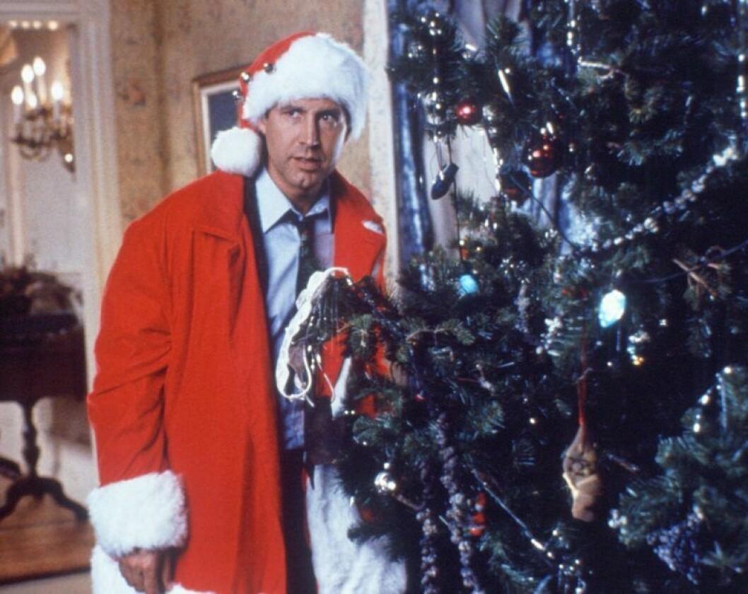 Ett päron till farsa firar jul.