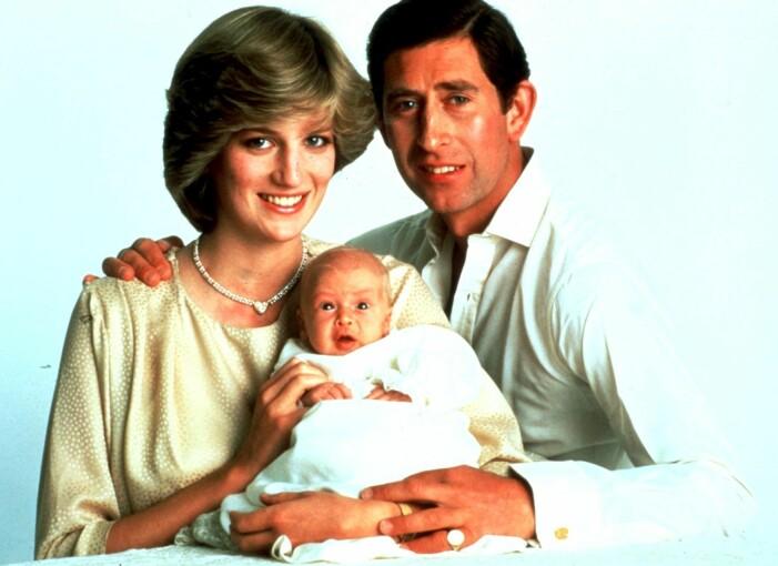 diana och charles med nyfödda sonen