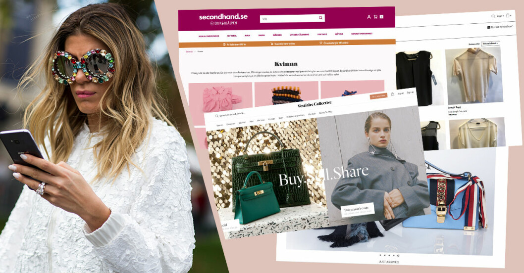 Second hand-butiker online lista