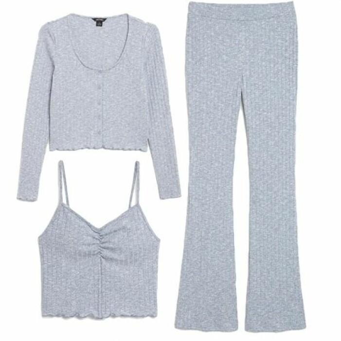Stickat set med byxor och linne från Monki