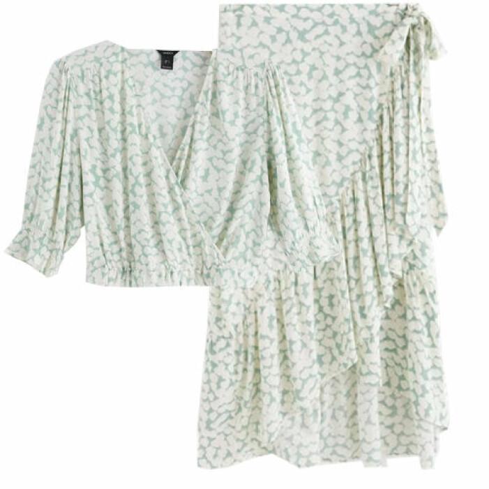 Matchande set med topp och kjol från Lindex