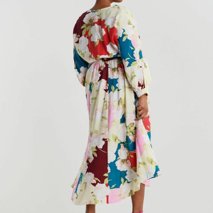 Blommigt matchande set kjol och topp