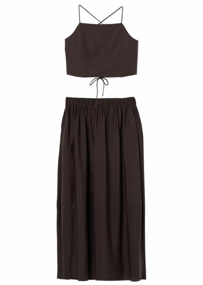 matchande set med lång kjol och topp