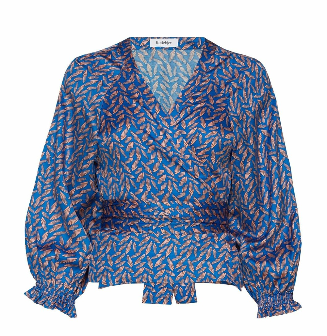Matchande set: Blå blus från Rodebjer