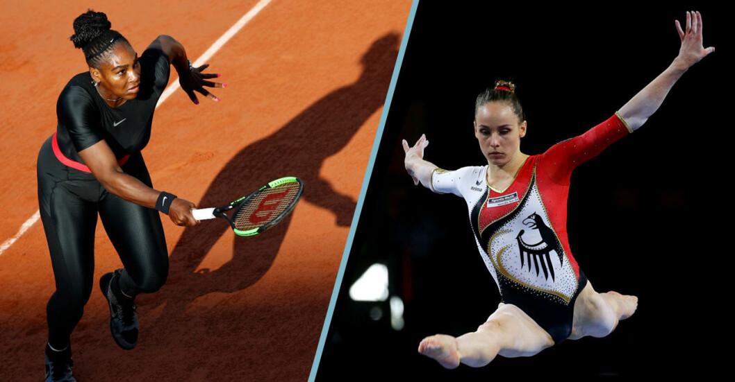 Serena Williams och Sarah Voss.