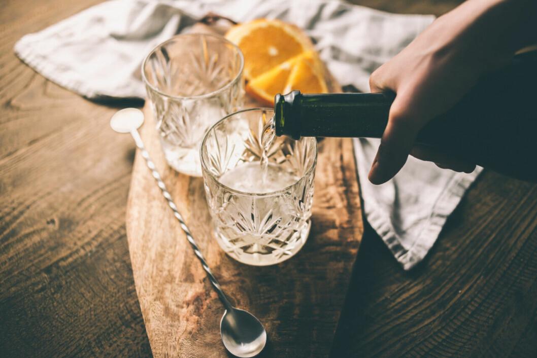 Recept på drink: Limoncello och champagne