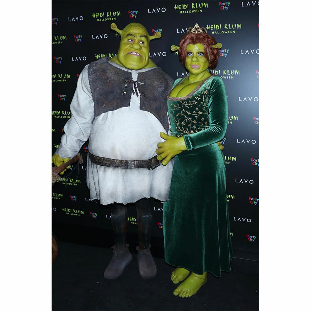 Shrek och Fiona på halloween