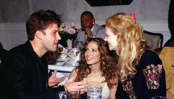 Ben Affleck, Jennifer Lopez och Nicole Kidman i april 2002, samtidigt som J.Lo slog upp portarna till hennes restaurang Madres i Kalifornien.