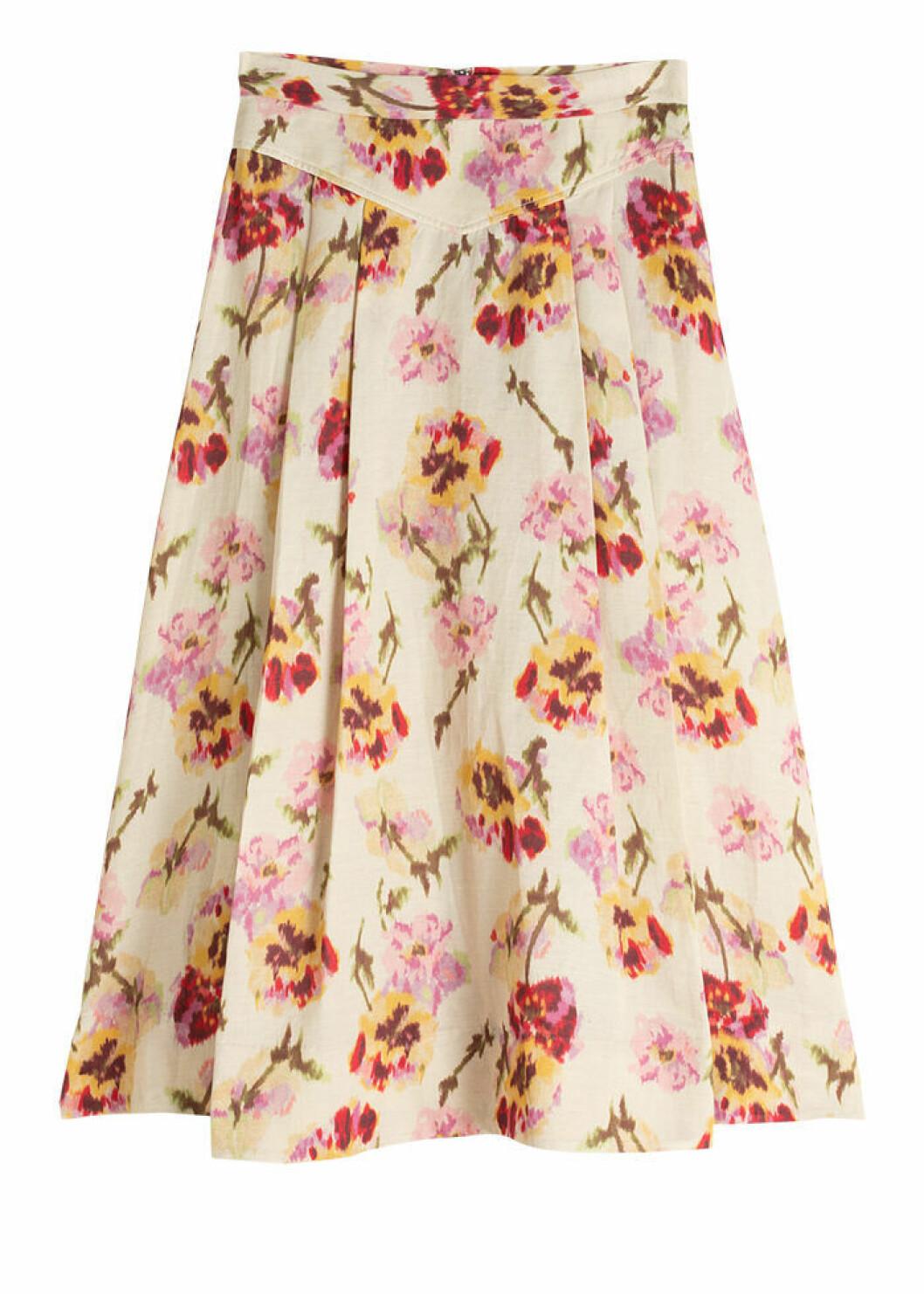 Blommmig kjol