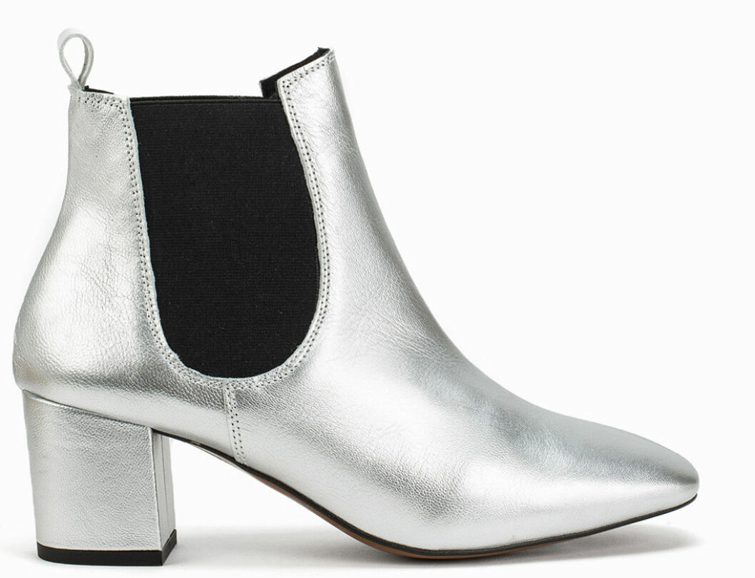 silver ankelboots