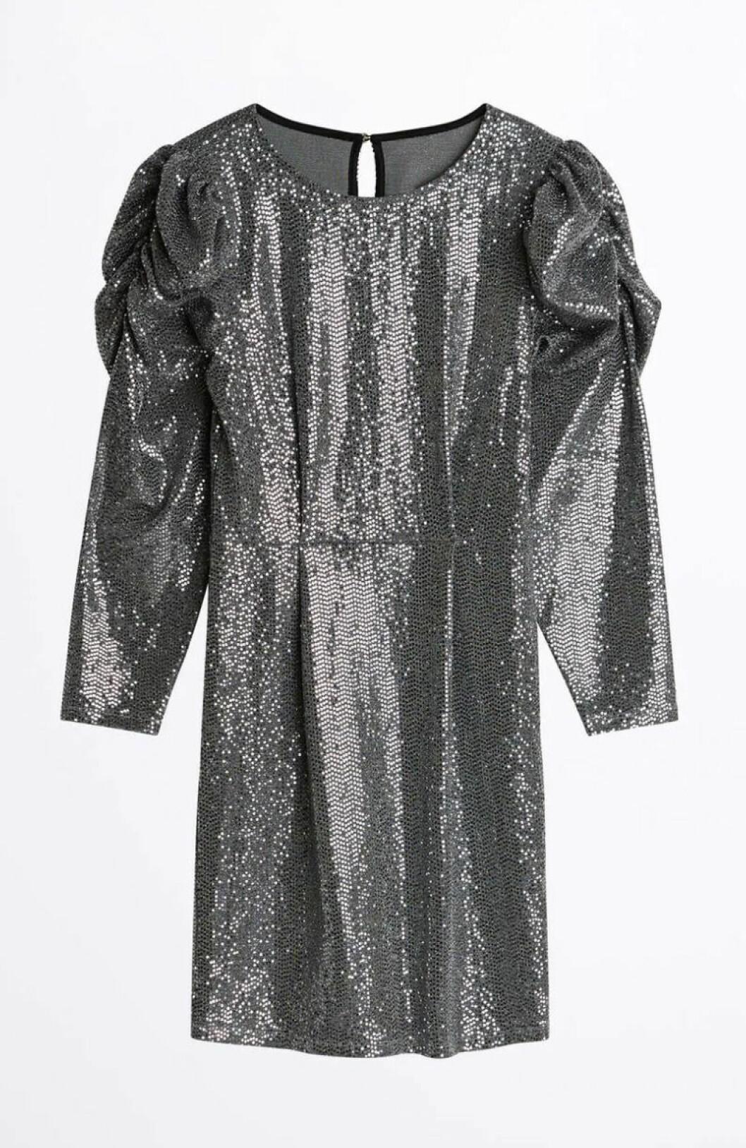Paljettklänning med puffärm för dam till 2019