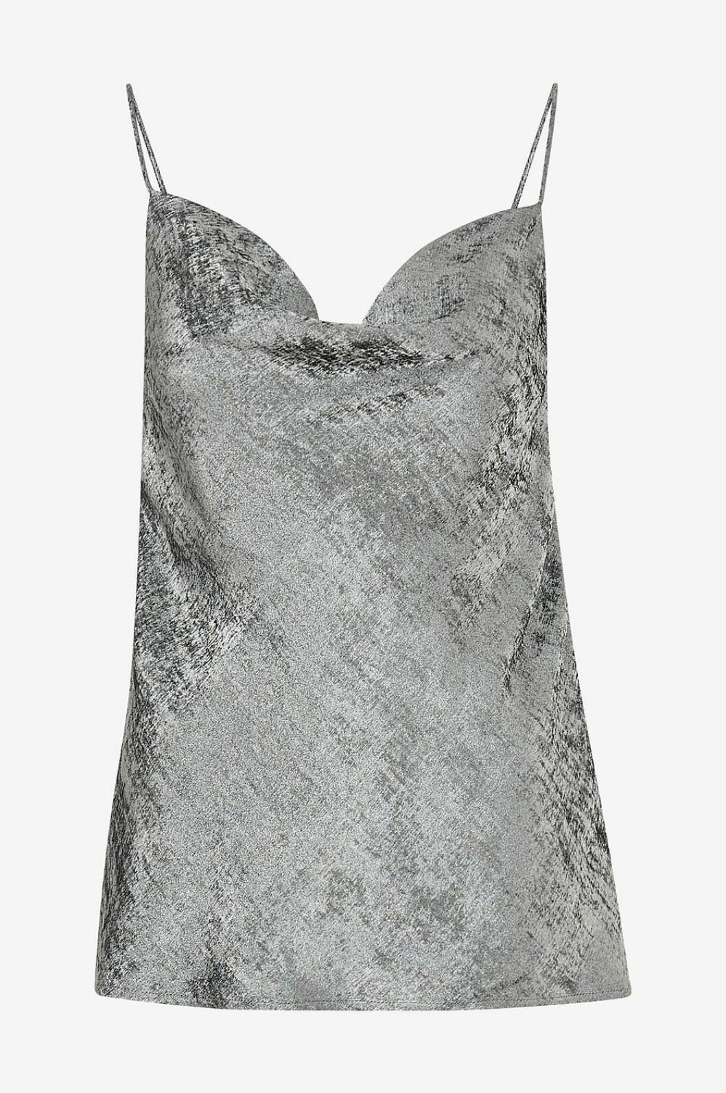 Silverglittrigt linne med smala band