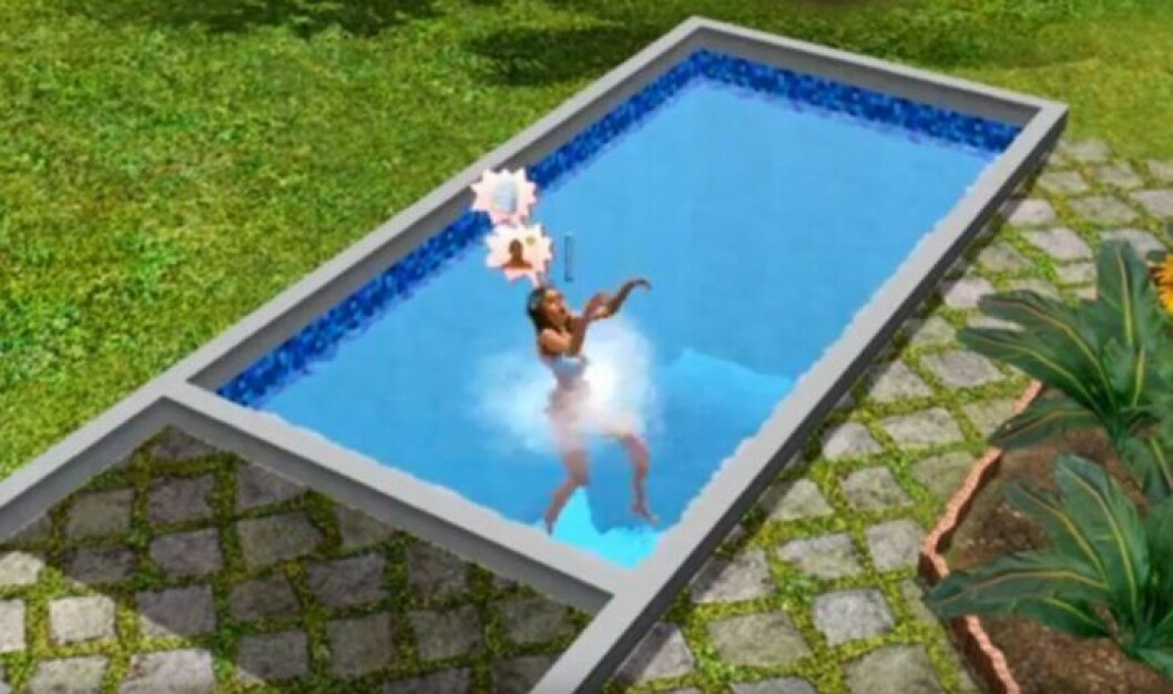 Selling steps in pool the sims