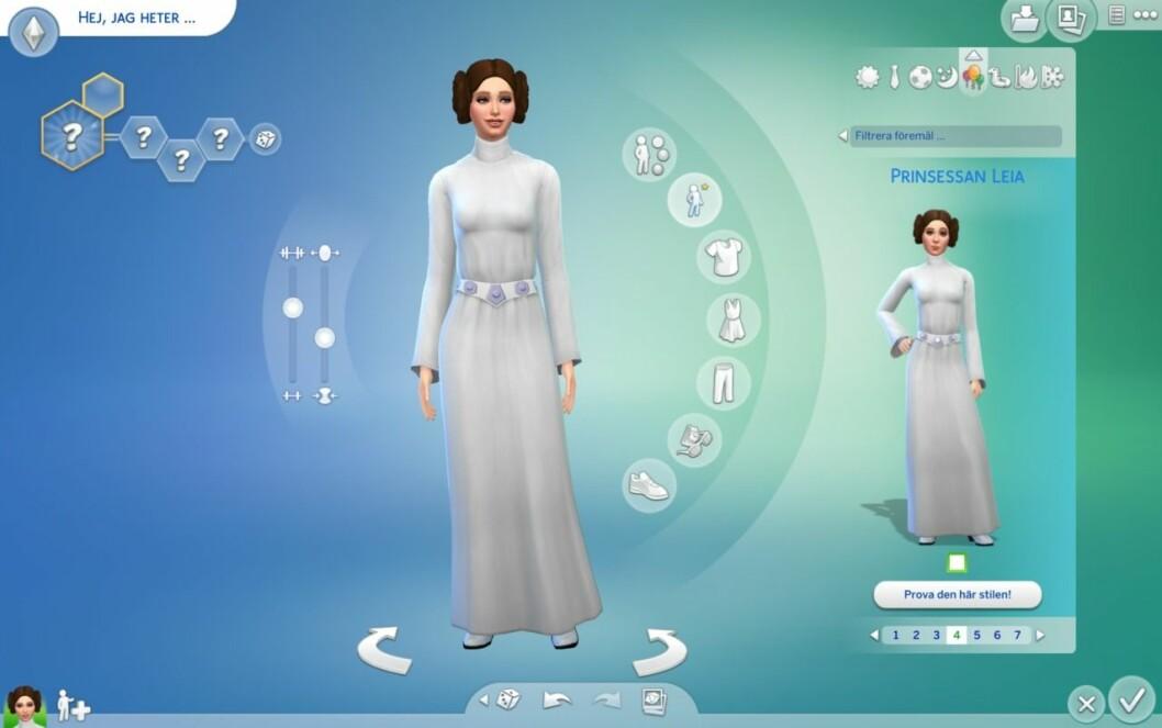 Princessan Leia Sims 4