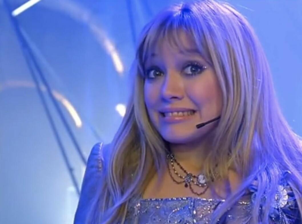 Lizzie's glittery eyes in The Lizzie McGuire Movie