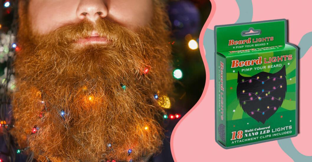 Skäggbelysning - en ljusslinga för skägget till jul!