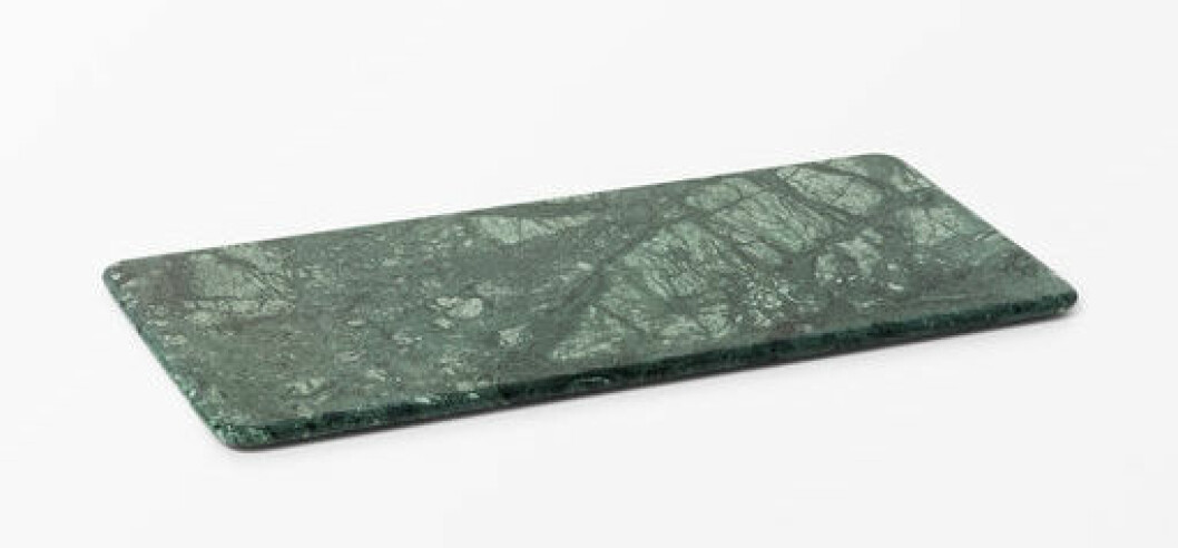 skärbräda grön marmor