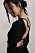 svart långärmad topp med öppen rygg