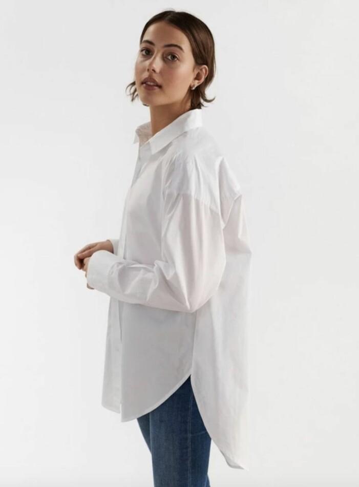 vit bomullsskjorta från Lindex