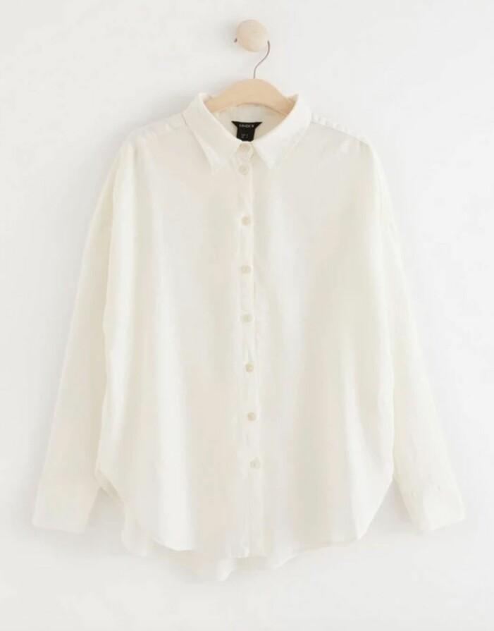 cremevit skjorta från lindex