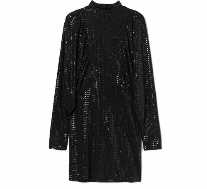 Skimrande klänning med paljetter från H&M