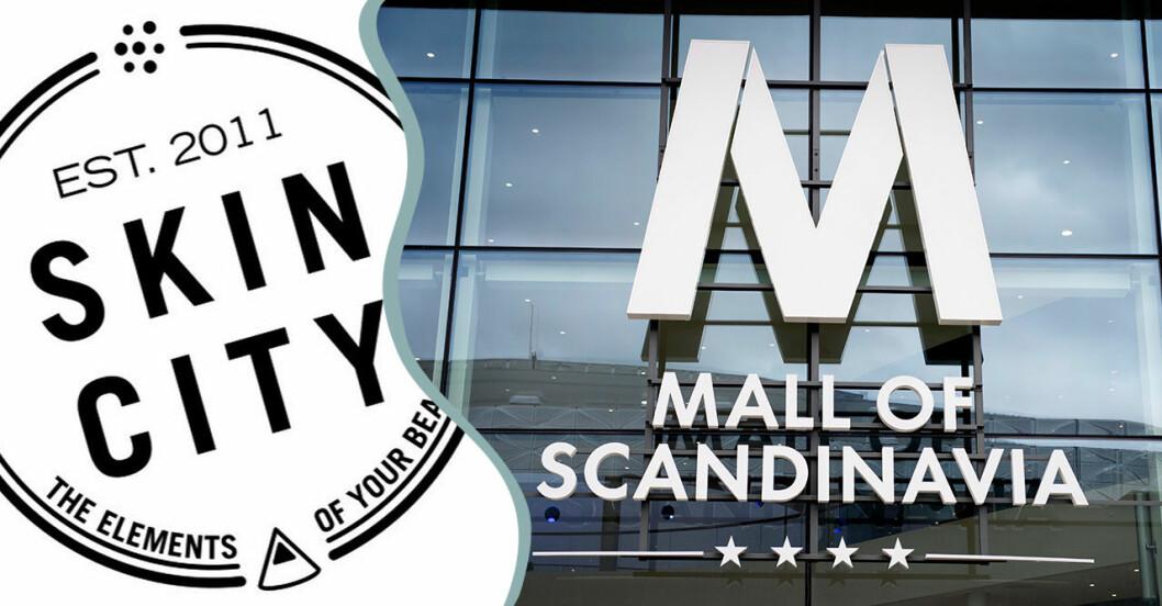 Skincitys nya butik i Westfield Mall of Scandinavia.