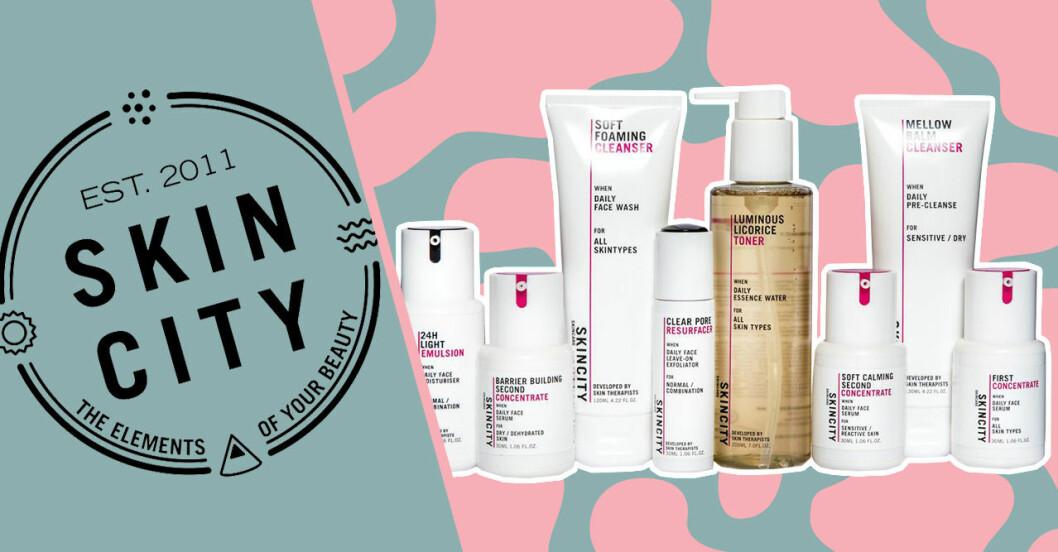 "Skincity lanserar hudvårdslinjen ""Skincity Skincare"""